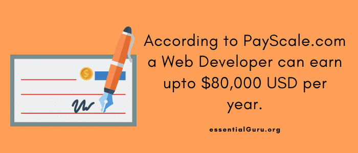 salary of front end web developer