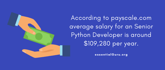 Salary of a senior python developer