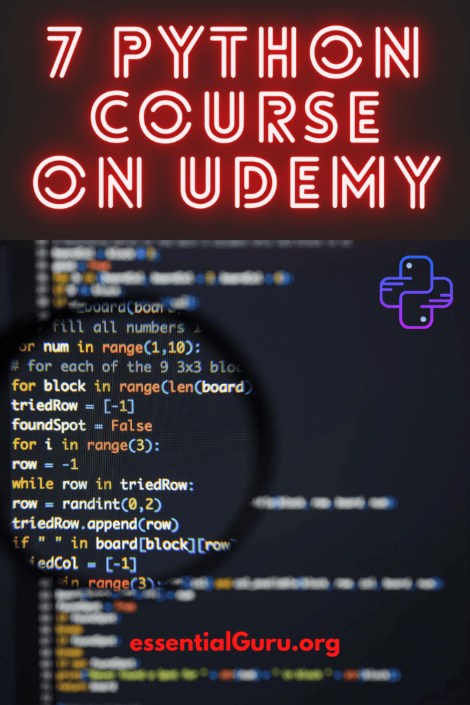 Learn Python online on Udemy