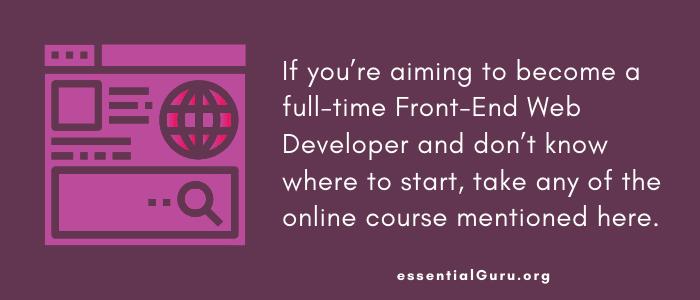 best online course to learn web development