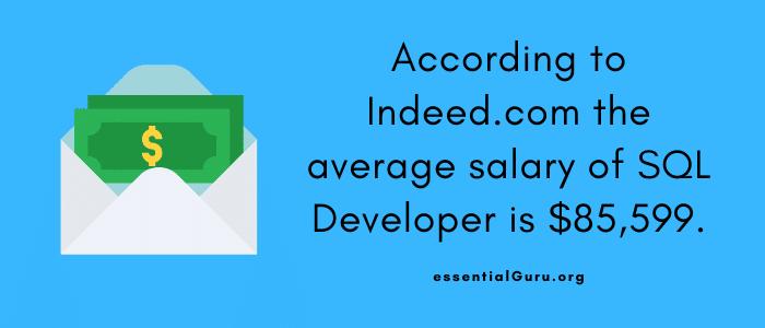 salary of SQL Developer